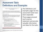 assessment tasks definitions and examples