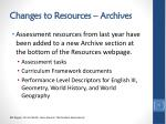 changes to resources archives