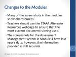 changes to the modules1