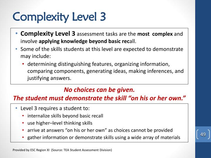 Complexity Level 3