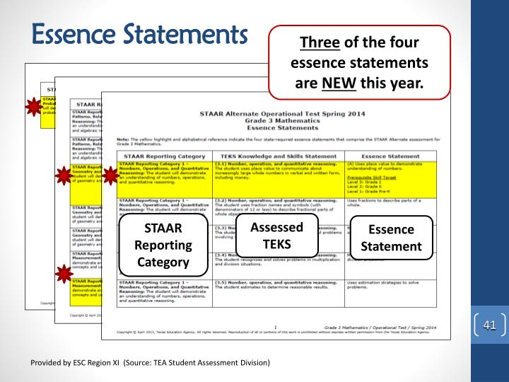 Essence Statements