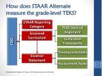 how does staar alternate measure the grade level teks
