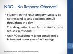 nro no response observed2
