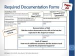 required documentation forms2