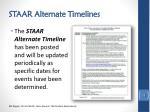 staar alternate timelines