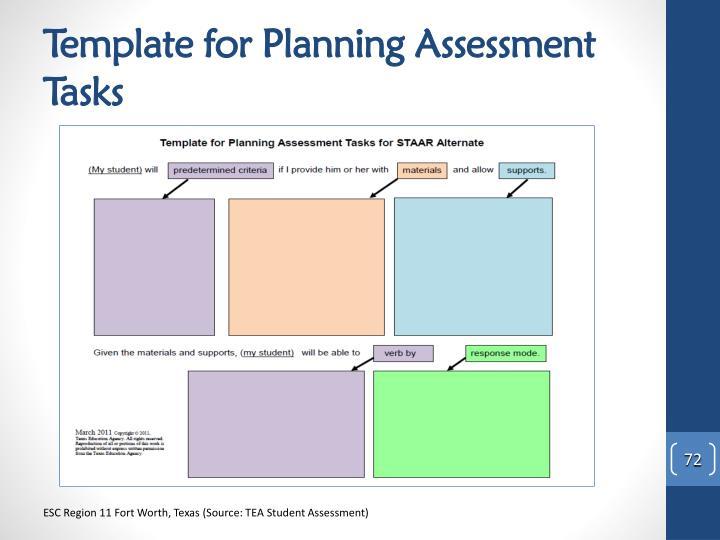 Template for Planning Assessment Tasks