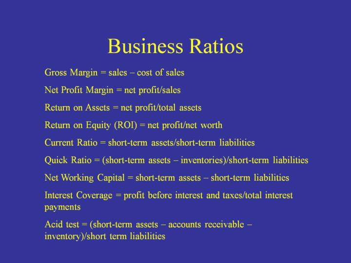 Business Ratios