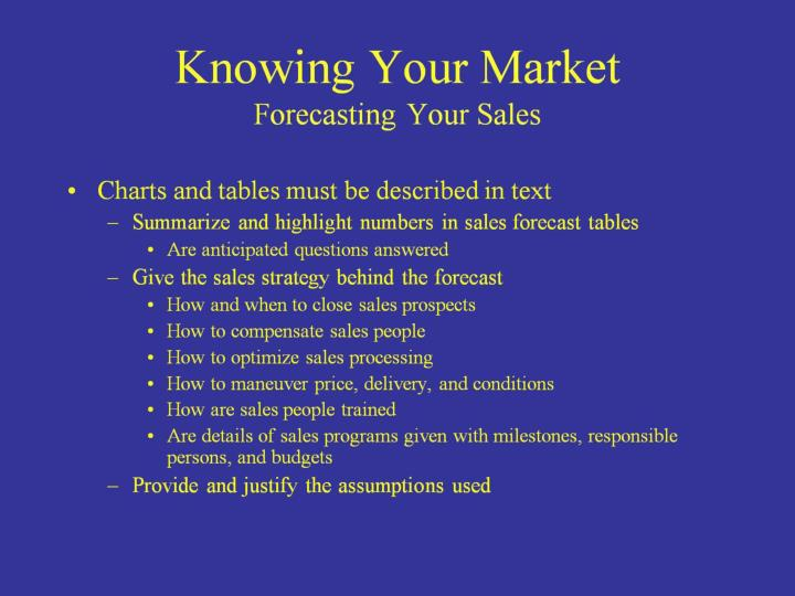 Knowing Your Market