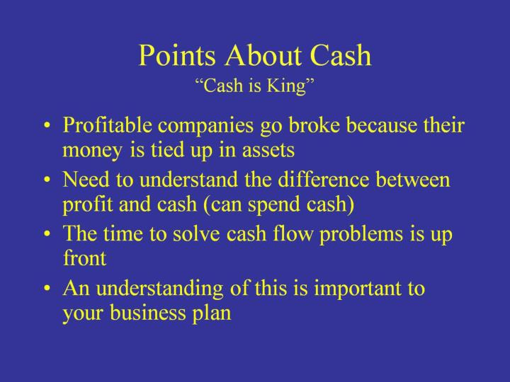 Points About Cash