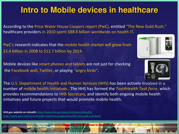 Intro to mobile devices in healthcare