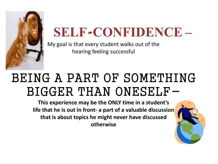 SELF-CONFIDENCE –