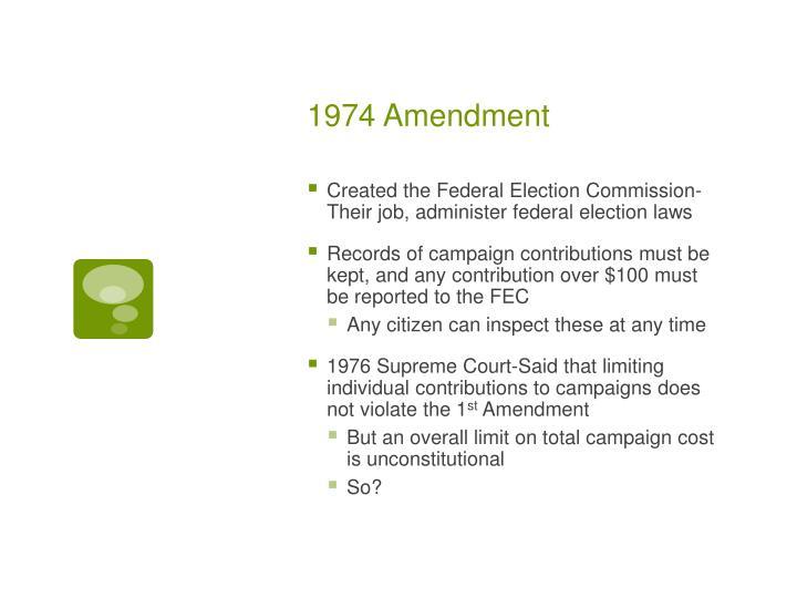 1974 Amendment