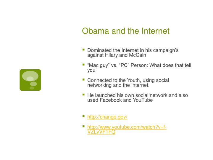 Obama and the Internet