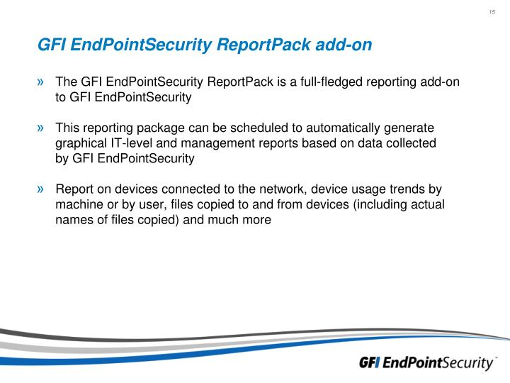 GFI EndPointSecurity ReportPack add-on