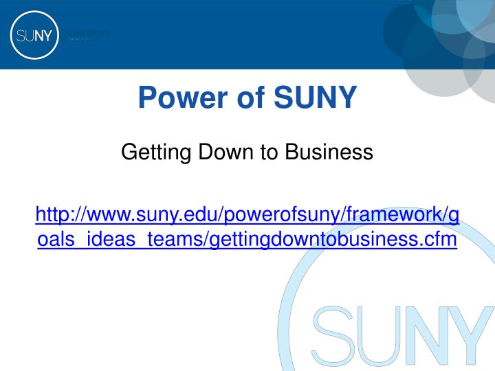 Power of SUNY