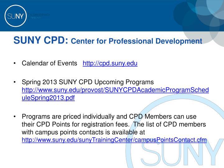 SUNY CPD: