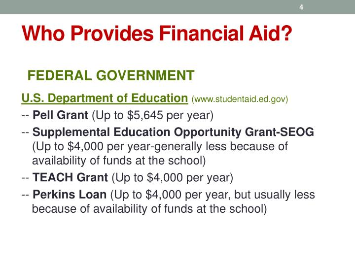 Who Provides Financial Aid?