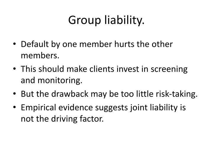 Group liability.