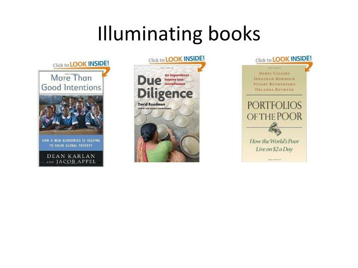Illuminating books