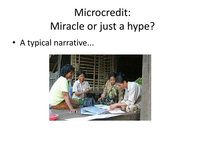 Microcredit:
