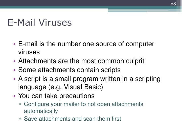 E-Mail Viruses