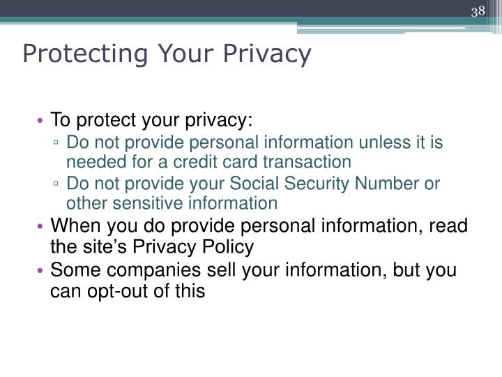 Protecting Your Privacy