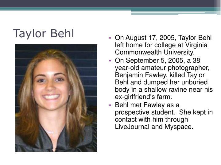 Taylor Behl