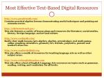 most effective text based digital resources