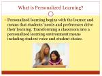 what is personalized learning
