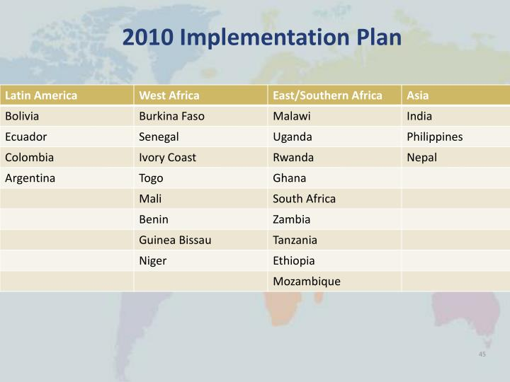 2010 Implementation Plan