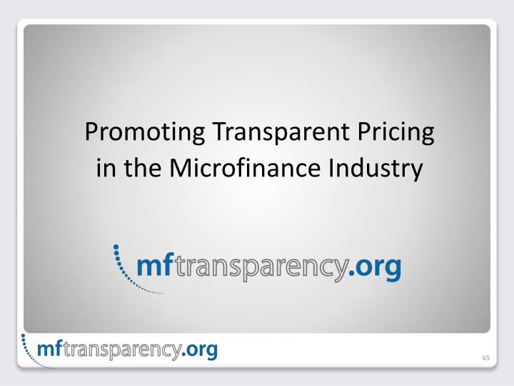 Promoting Transparent Pricing