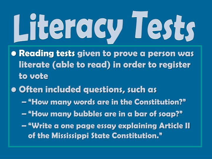 Literacy Tests