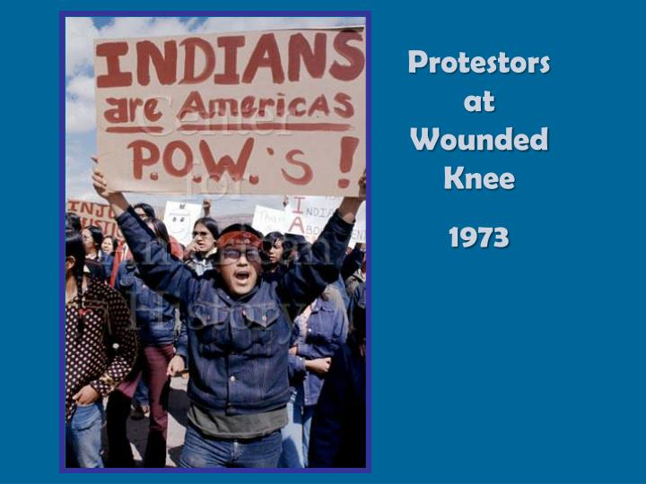 Protestors at Wounded Knee