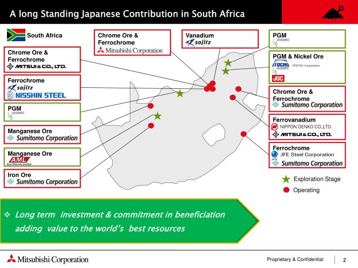 A long Standing Japanese Contribution in South Africa
