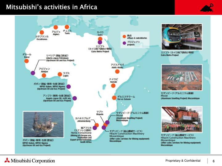 Mitsubishi's activities in Africa