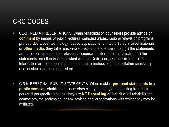 CRC codes