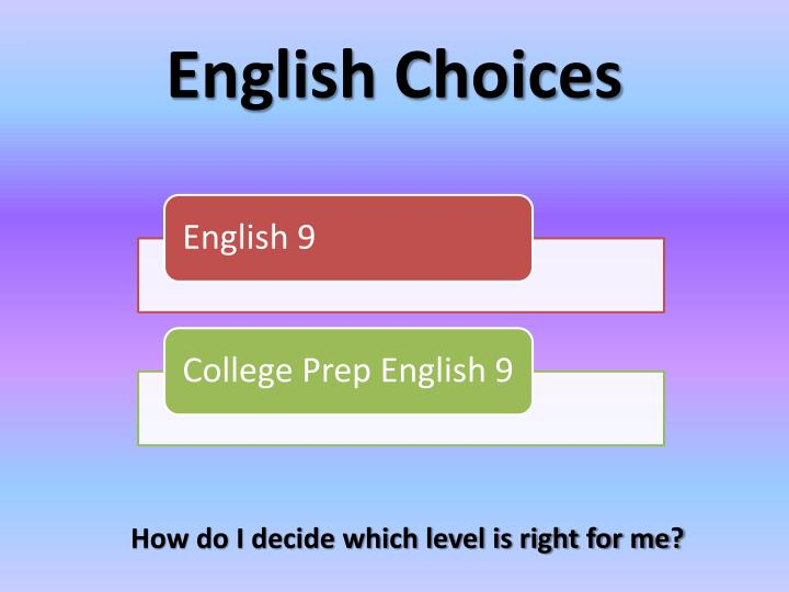 English Choices