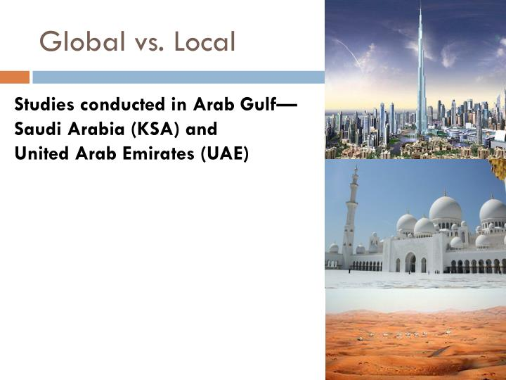 Global vs. Local