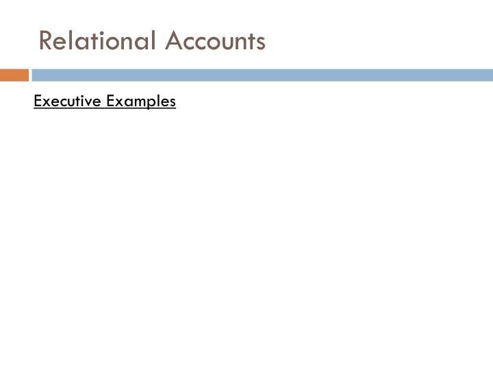 Relational Accounts