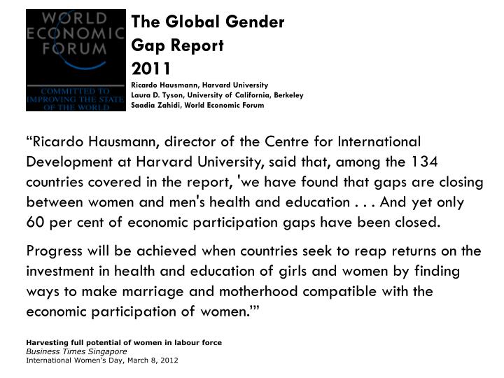 The Global Gender