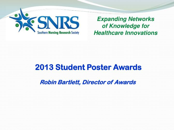 2013 Student Poster Awards
