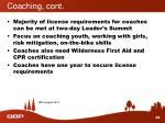 coaching cont