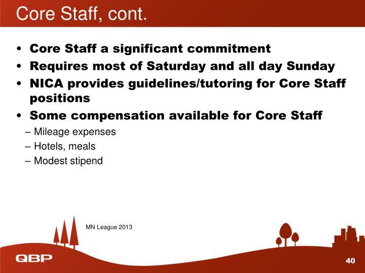 Core Staff, cont.