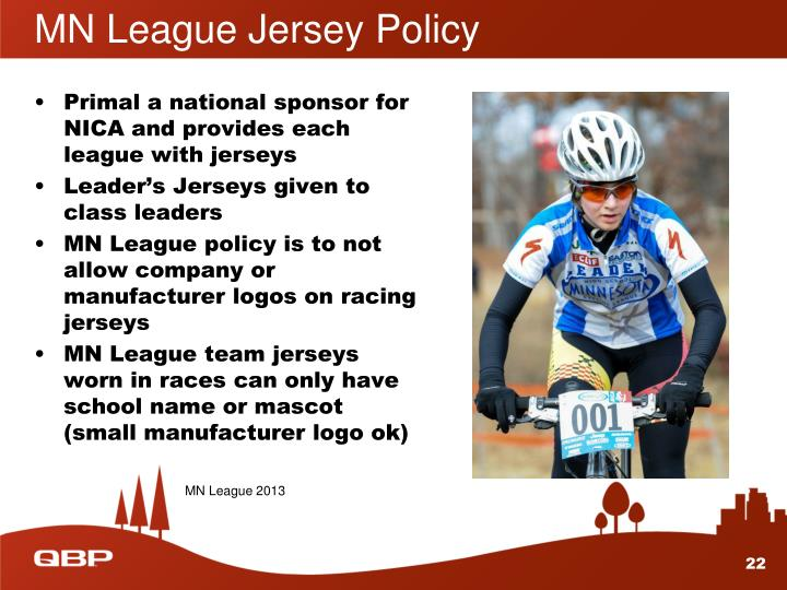 MN League Jersey Policy