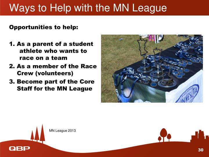 Ways to Help with the MN League