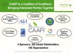 caafi is a coalition of coalitions bringing interested parties together