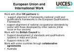 european union and international work