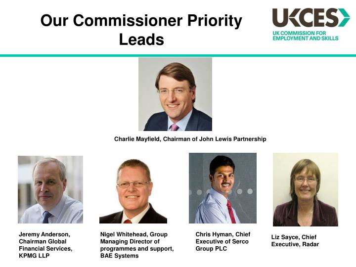 Our Commissioner Priority Leads