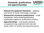 standards qualifications and apprenticeships