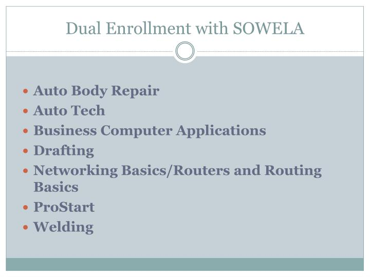 Dual Enrollment with SOWELA